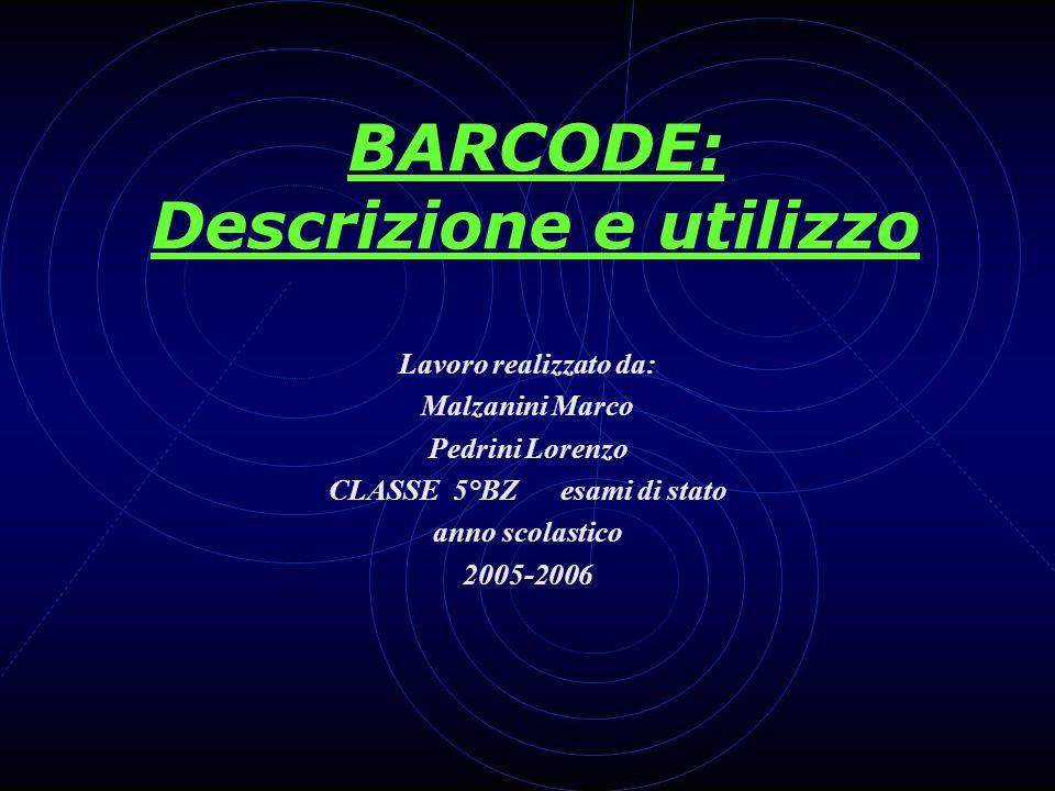 BARCODE: Descrizione e utilizzo