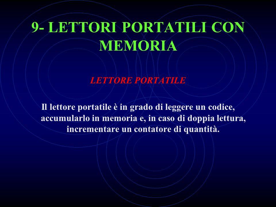 9- LETTORI PORTATILI CON MEMORIA