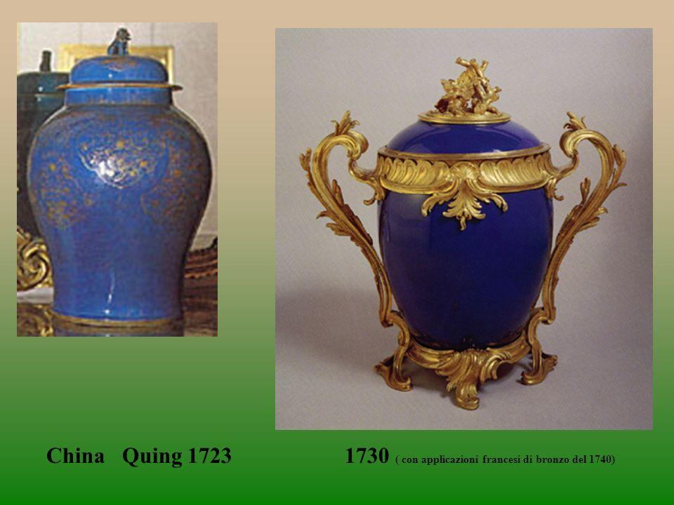 China Quing 1723 1730 ( con applicazioni francesi di bronzo del 1740)