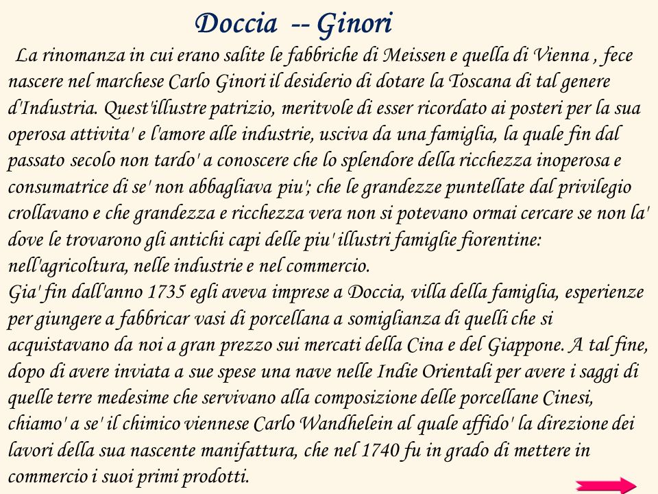 Doccia -- Ginori