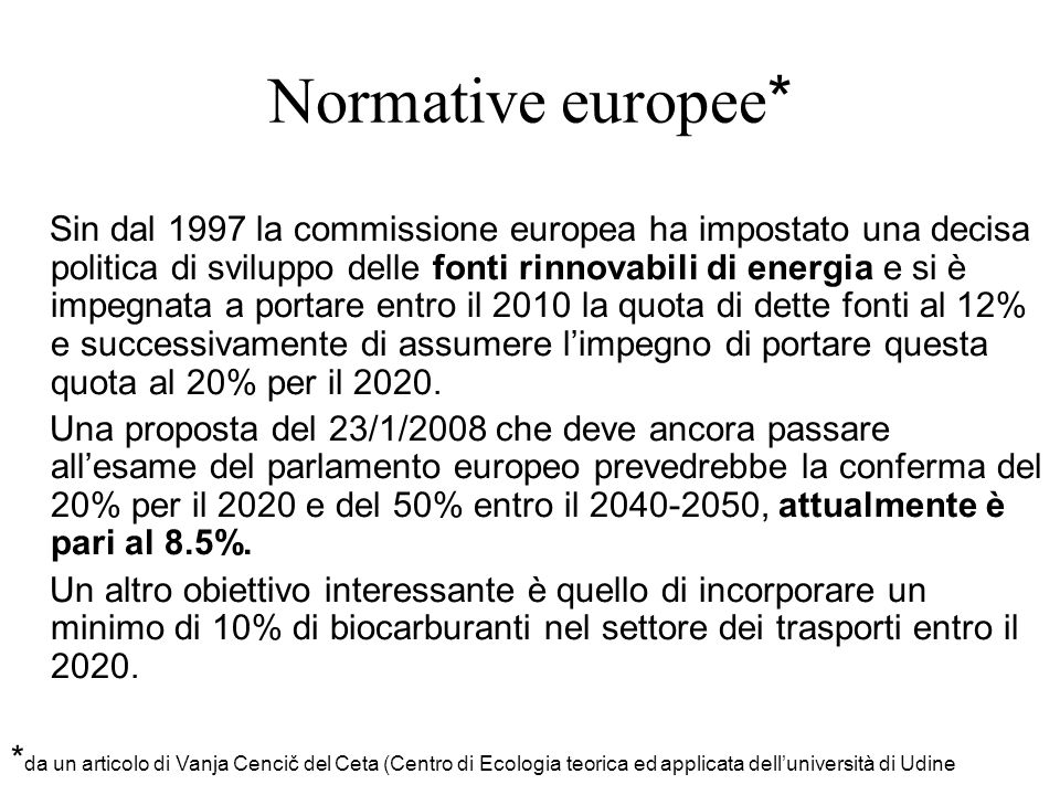 Normative europee*