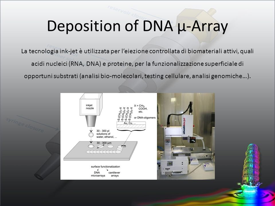 Deposition of DNA µ-Array