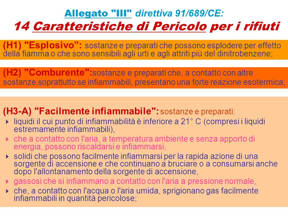 (H3-A) Facilmente infiammabile : sostanze e preparati: