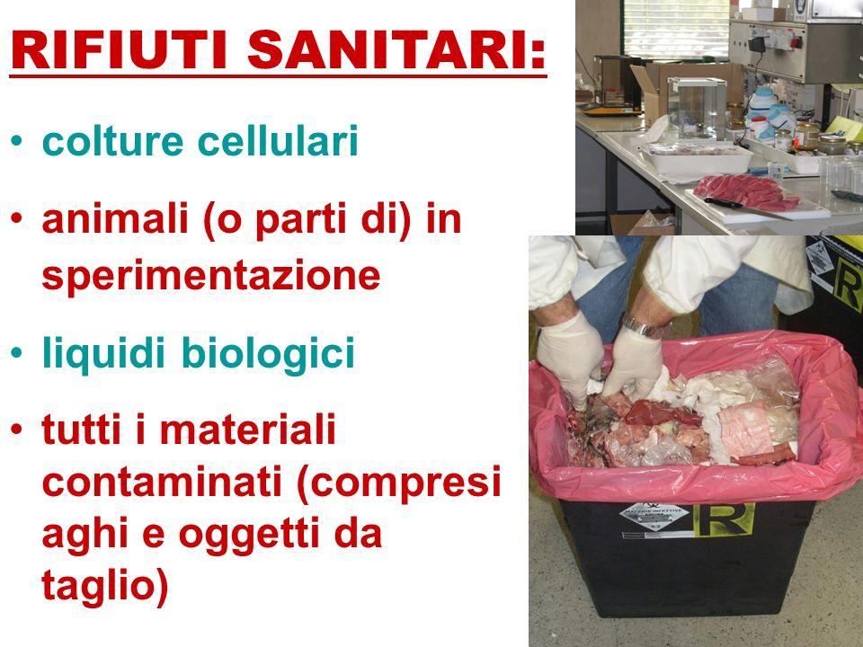 RIFIUTI SANITARI: colture cellulari