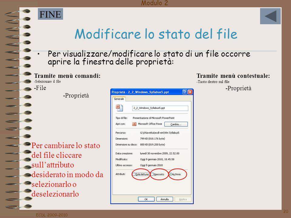 Modificare lo stato del file