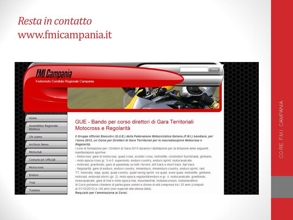 Resta in contatto www.fmicampania.it