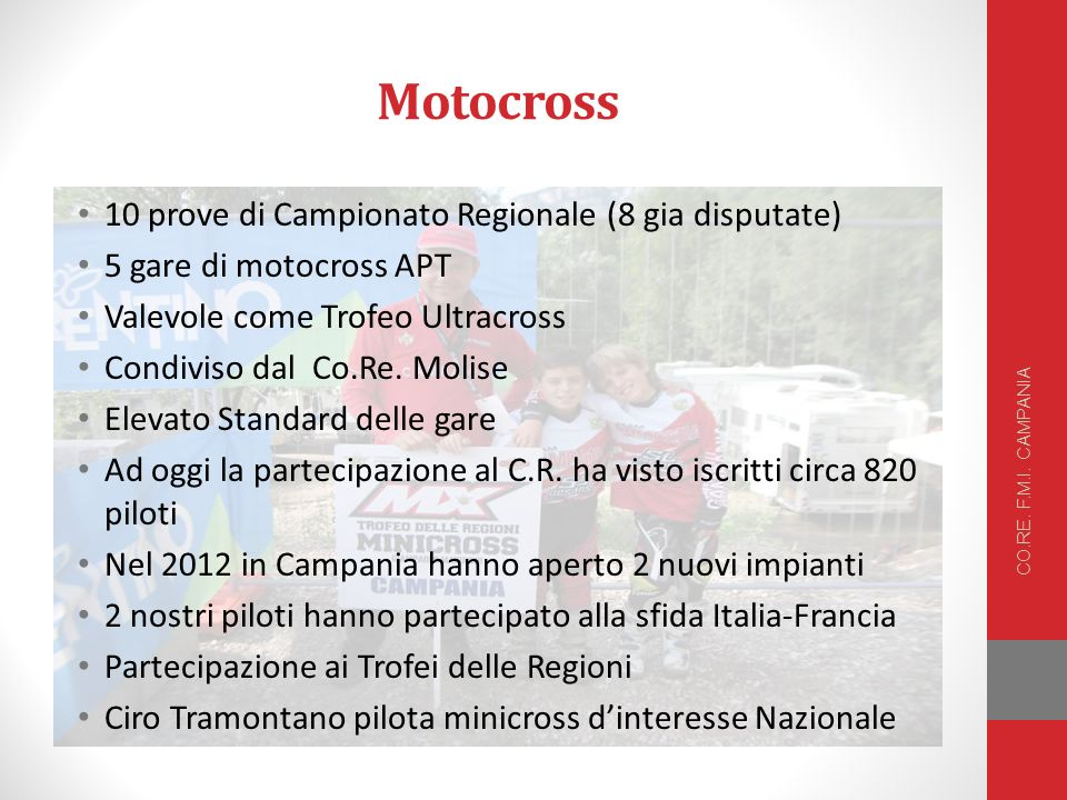 Motocross 10 prove di Campionato Regionale (8 gia disputate)