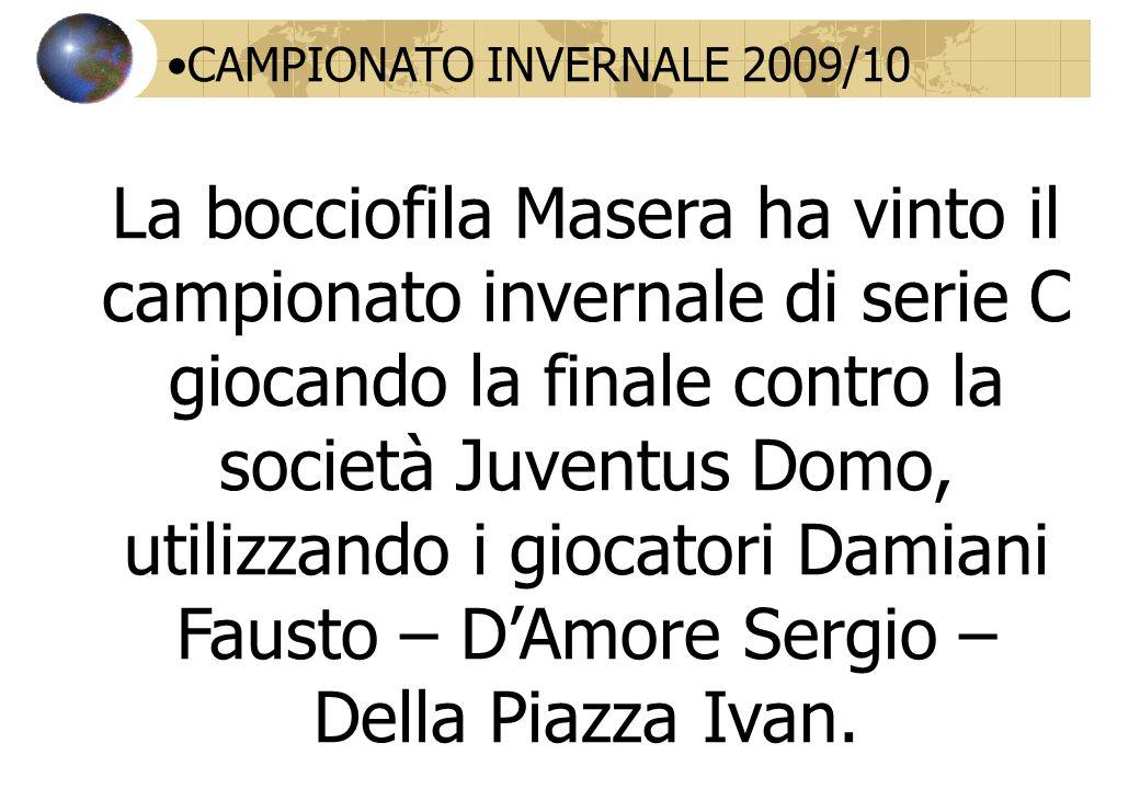 CAMPIONATO INVERNALE 2009/10