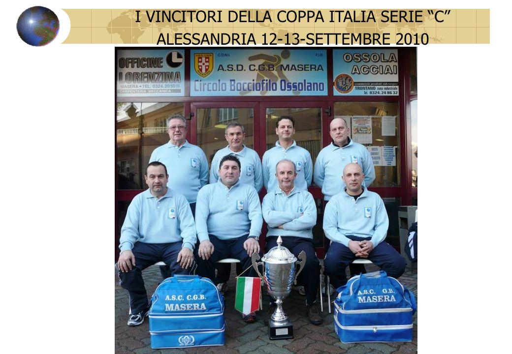 VINCITORI COPPA ITALIA SERIE C 12 - 13 SETTEMBRE 2010