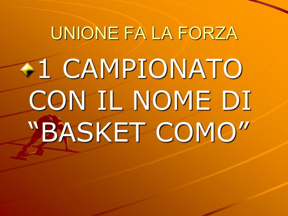 1 CAMPIONATO CON IL NOME DI BASKET COMO