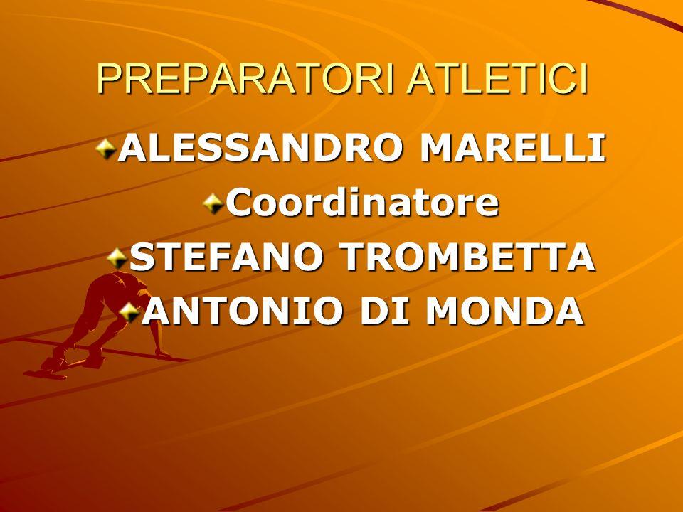 PREPARATORI ATLETICI ALESSANDRO MARELLI Coordinatore STEFANO TROMBETTA