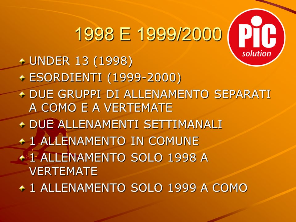1998 E 1999/2000 UNDER 13 (1998) ESORDIENTI (1999-2000)