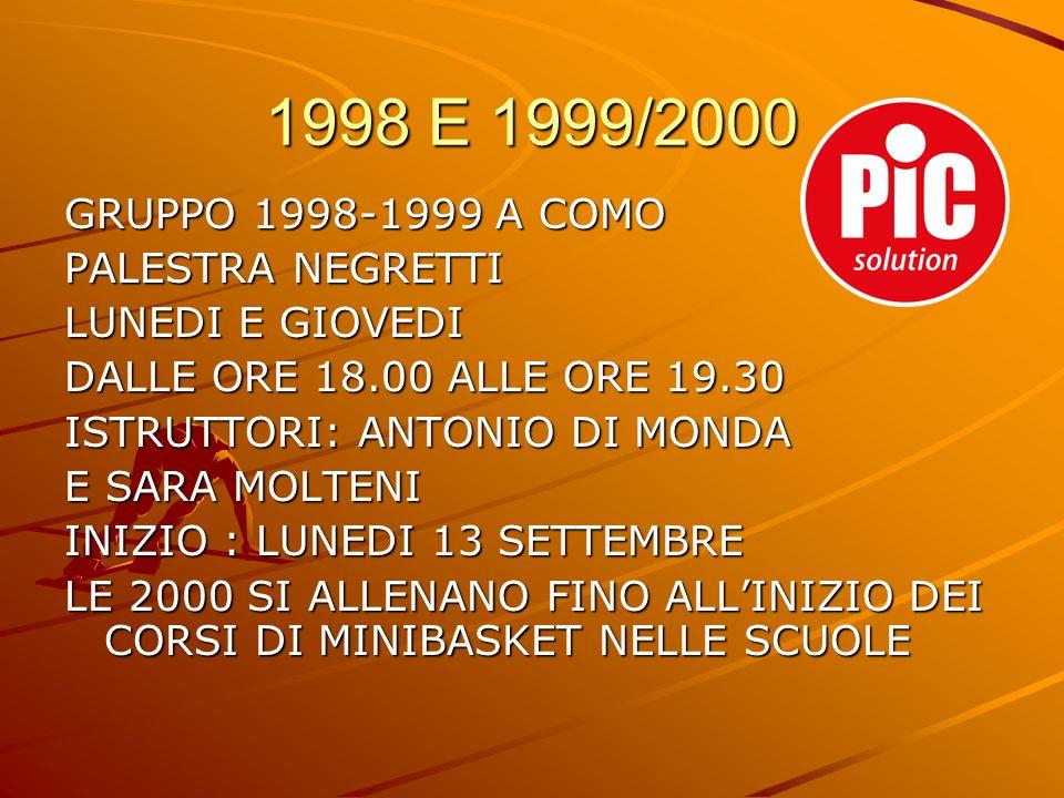 1998 E 1999/2000 GRUPPO 1998-1999 A COMO PALESTRA NEGRETTI