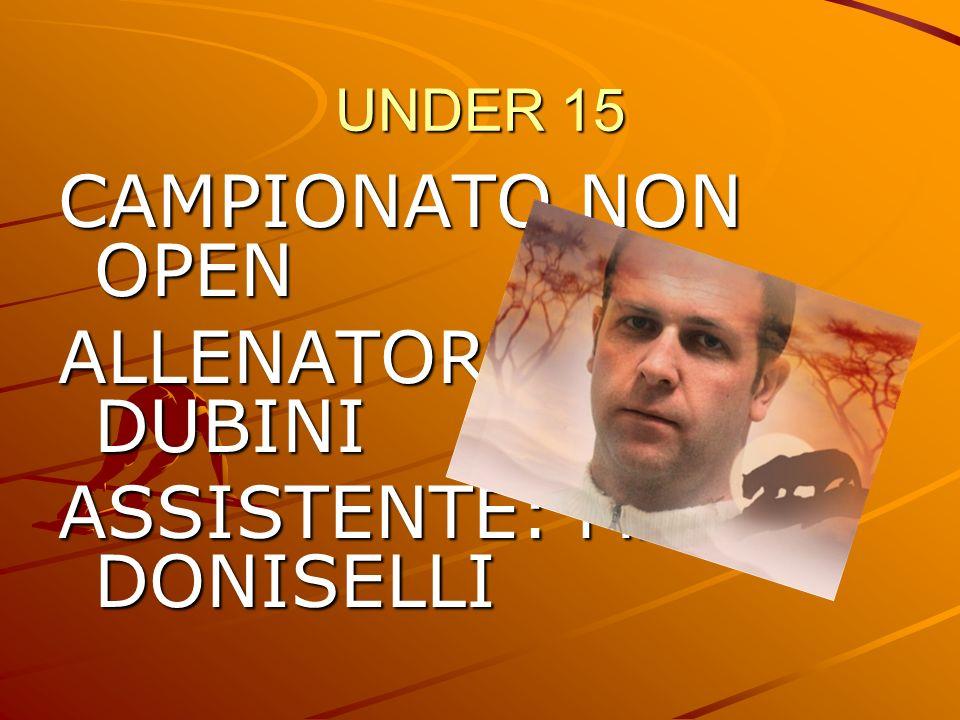 ALLENATORE: MAURO DUBINI ASSISTENTE: MARTA DONISELLI