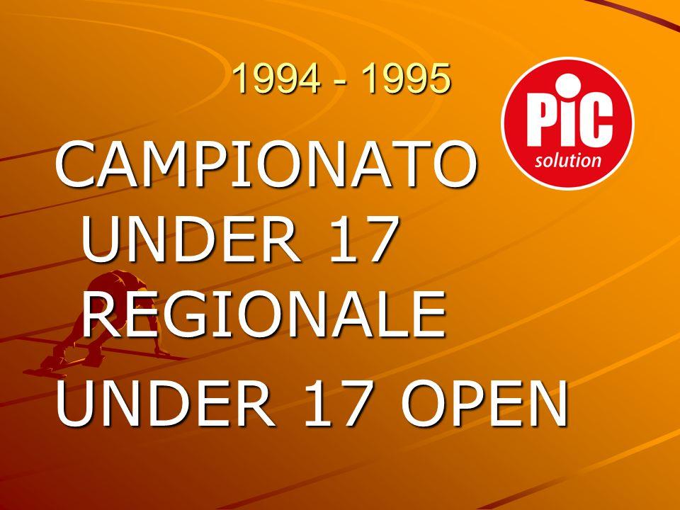CAMPIONATO UNDER 17 REGIONALE