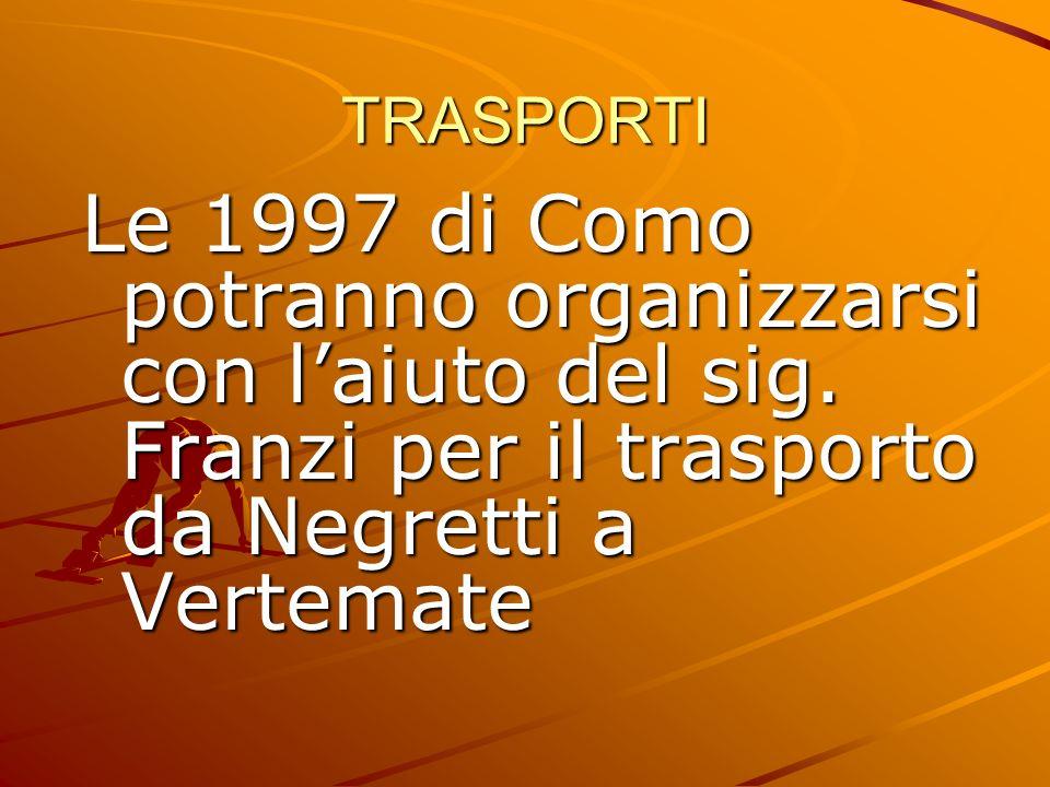TRASPORTI Le 1997 di Como potranno organizzarsi con l'aiuto del sig.