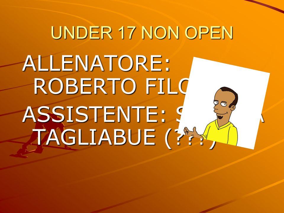 ALLENATORE: ROBERTO FILOCAMO ASSISTENTE: SIMONA TAGLIABUE ( )