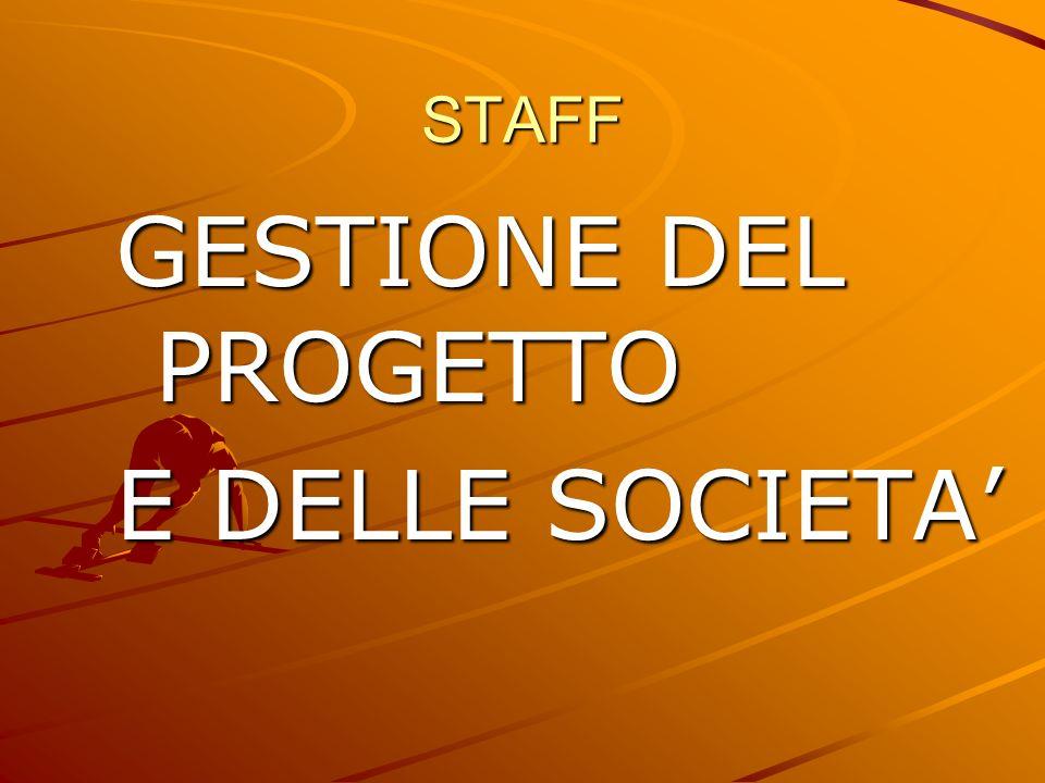 STAFF GESTIONE DEL PROGETTO E DELLE SOCIETA'
