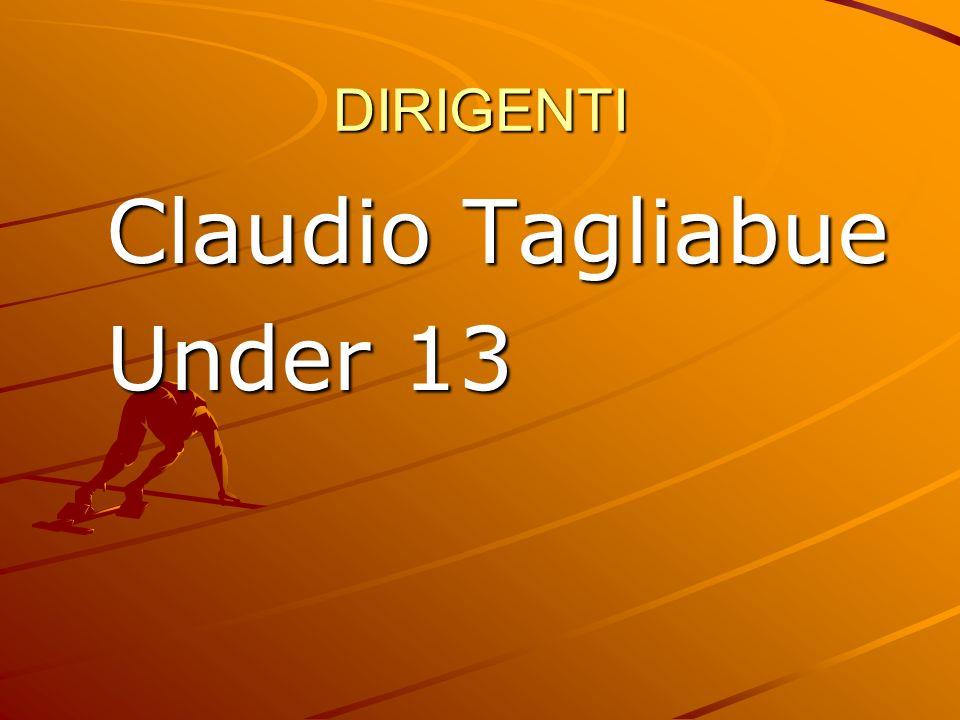 DIRIGENTI Claudio Tagliabue Under 13