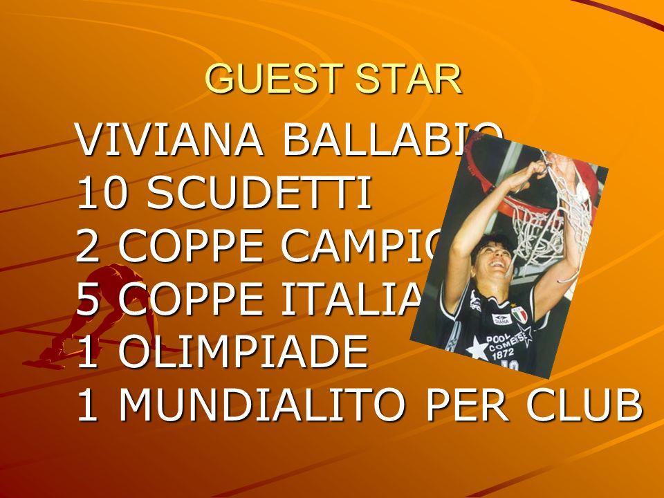 VIVIANA BALLABIO 10 SCUDETTI 2 COPPE CAMPIONI 5 COPPE ITALIA
