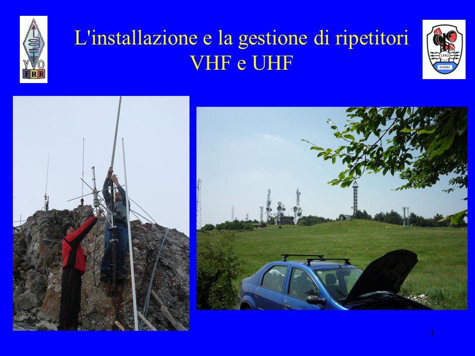 L installazione e la gestione di ripetitori VHF e UHF