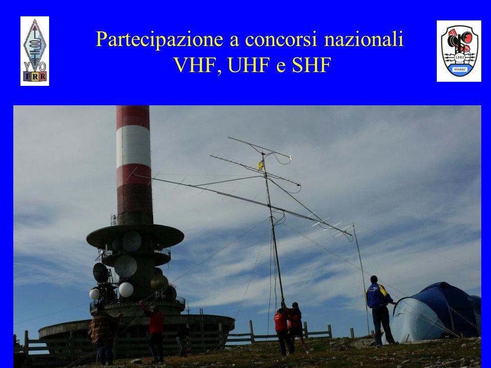 Partecipazione a concorsi nazionali VHF, UHF e SHF