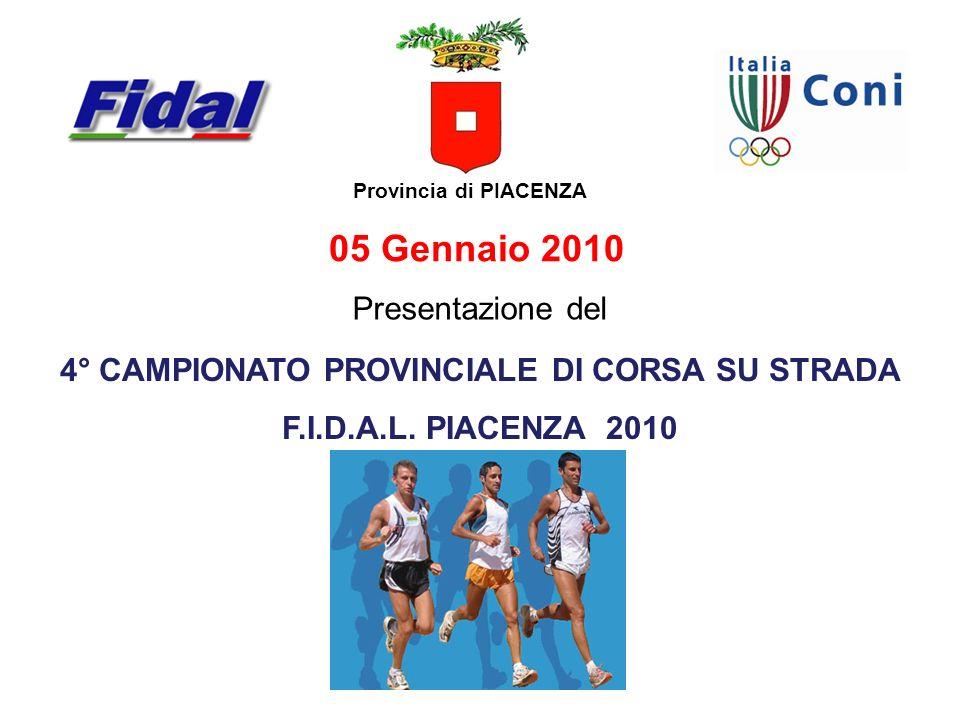 4° CAMPIONATO PROVINCIALE DI CORSA SU STRADA