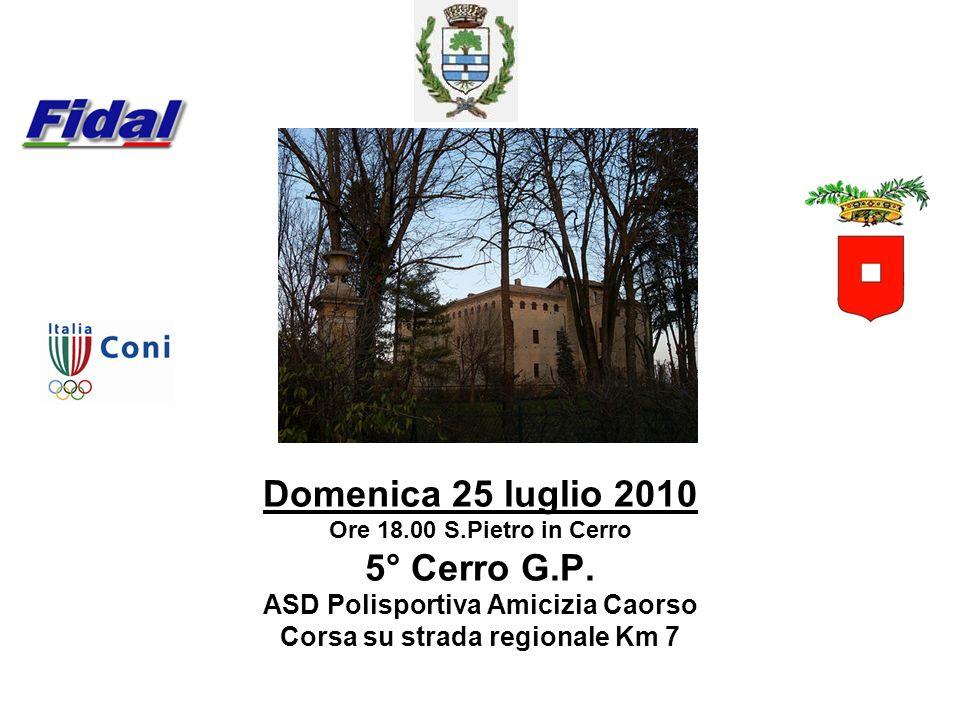 ASD Polisportiva Amicizia Caorso Corsa su strada regionale Km 7