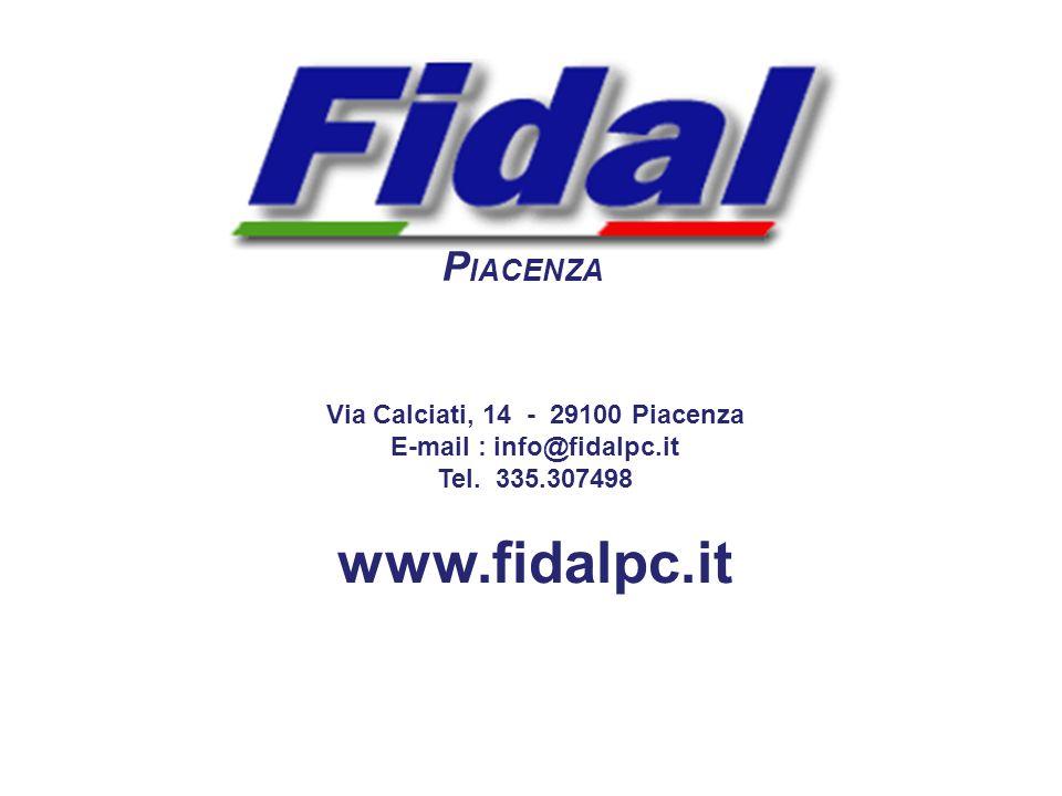 Via Calciati, 14 - 29100 Piacenza E-mail : info@fidalpc.it