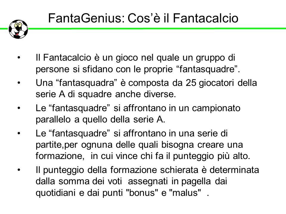 FantaGenius: Cos'è il Fantacalcio