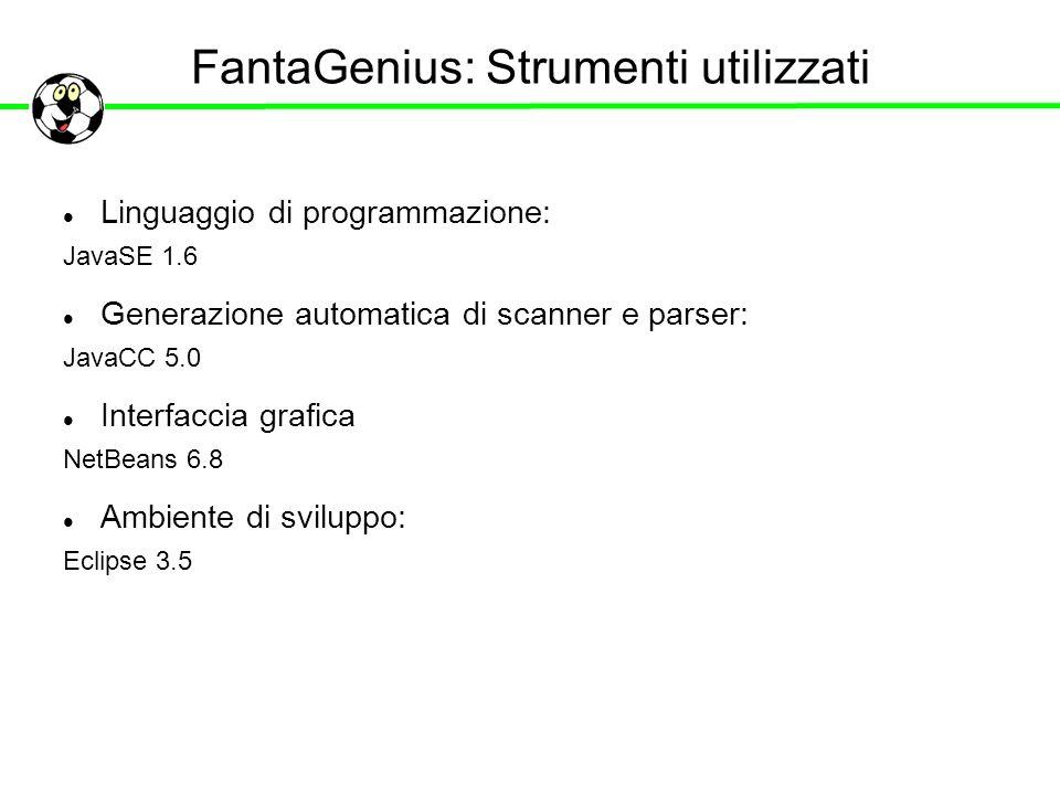 FantaGenius: Strumenti utilizzati