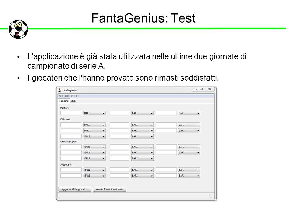 FantaGenius: Test L applicazione è già stata utilizzata nelle ultime due giornate di campionato di serie A.