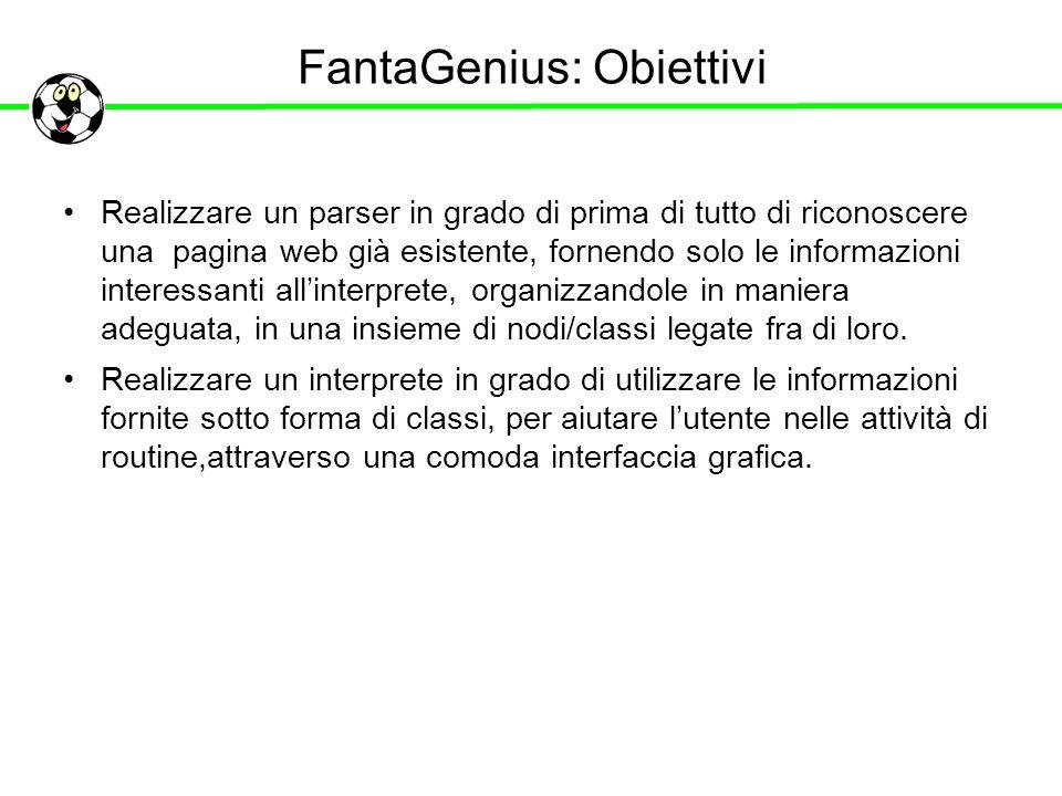 FantaGenius: Obiettivi