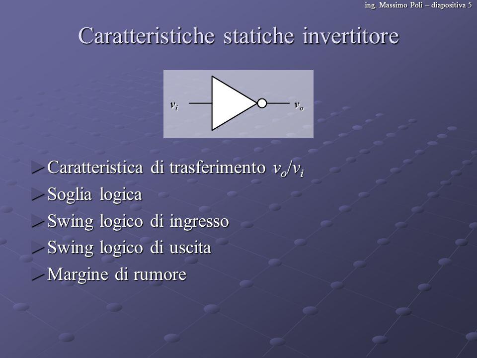 Caratteristiche statiche invertitore
