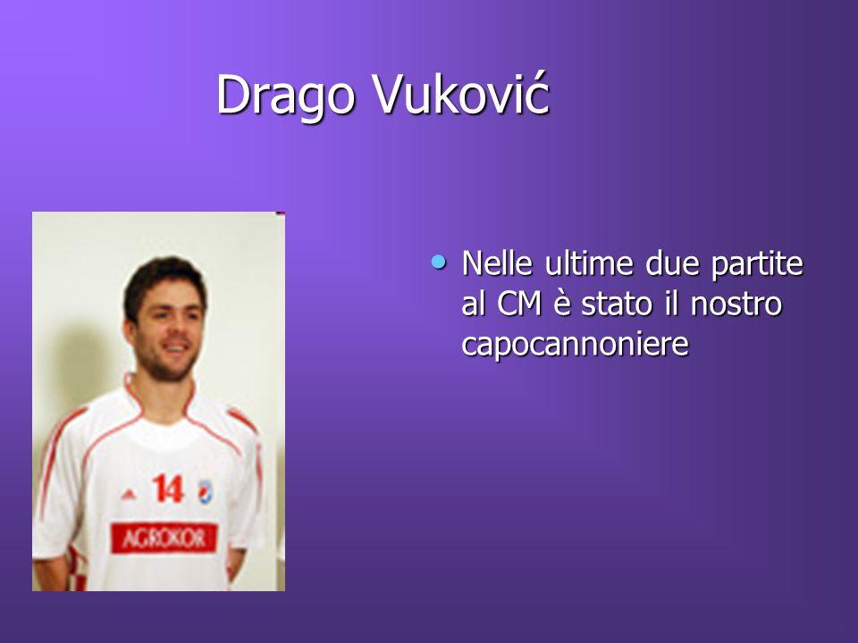 Drago Vuković Nelle ultime due partite al CM è stato il nostro capocannoniere