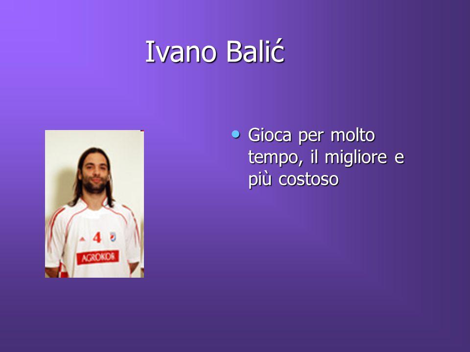 Ivano Balić Gioca per molto tempo, il migliore e più costoso