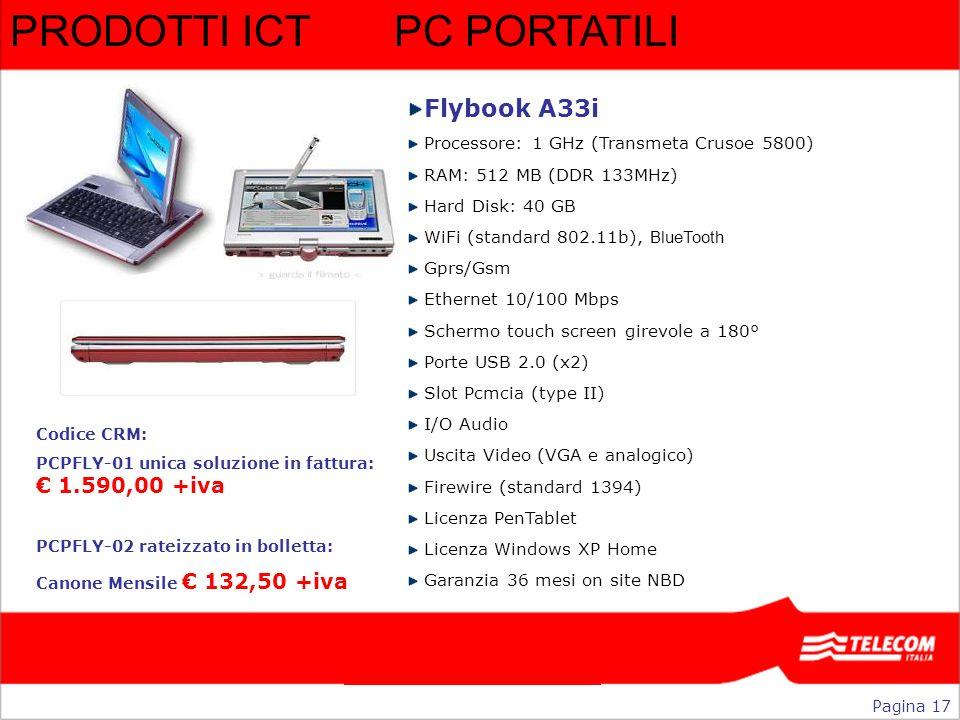 PRODOTTI ICT PC PORTATILI