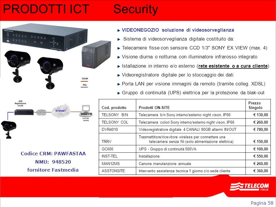 PRODOTTI ICT Security VIDEONEGOZIO soluzione di videosorveglianza