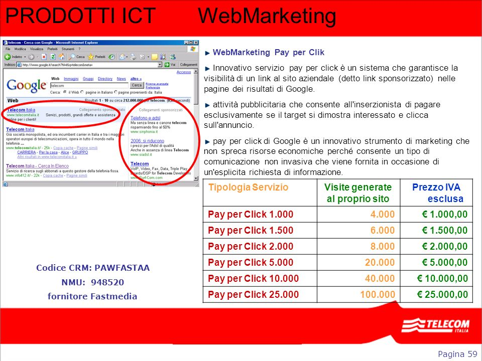 PRODOTTI ICT WebMarketing