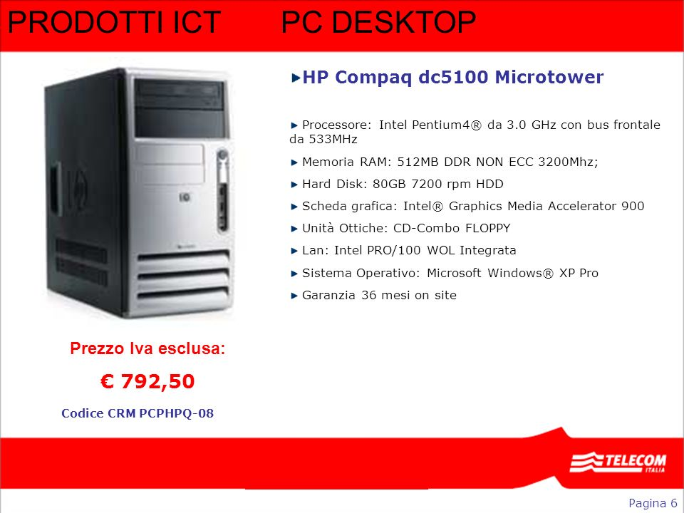 PRODOTTI ICT PC DESKTOP