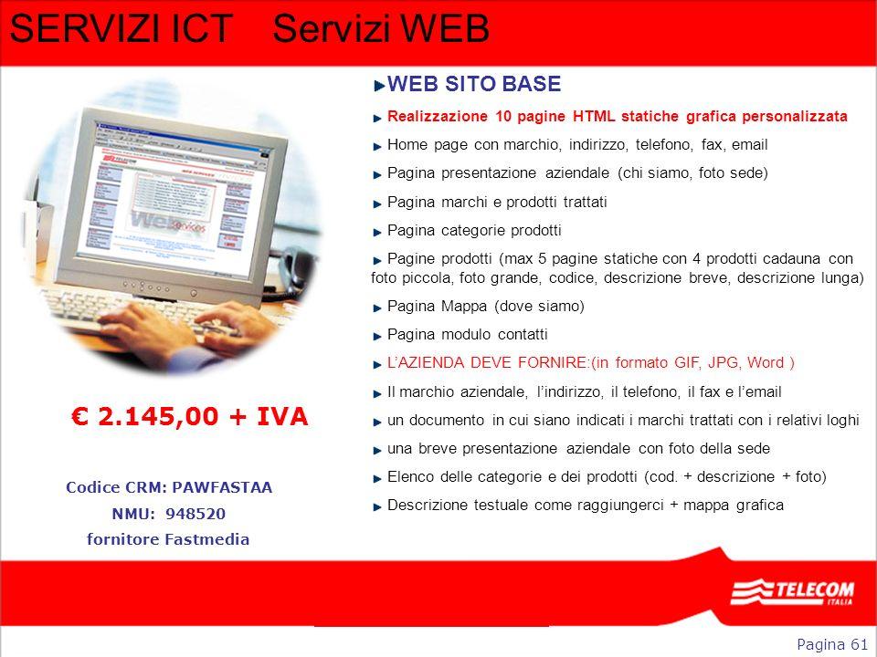 SERVIZI ICT Servizi WEB