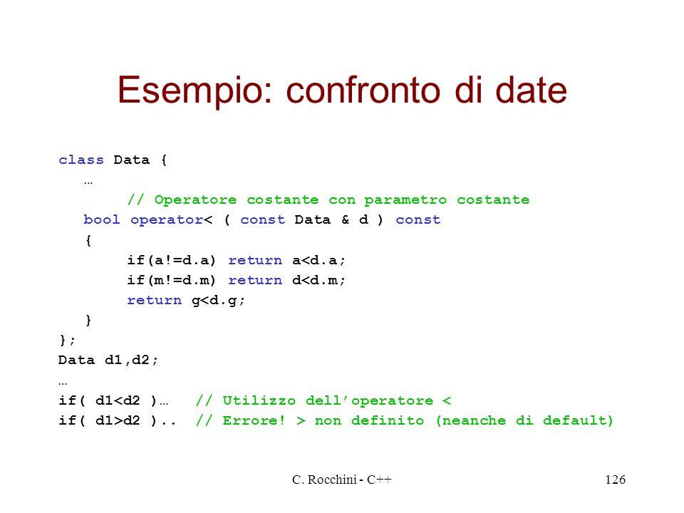 Esempio: confronto di date