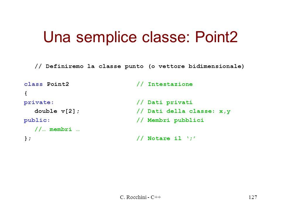 Una semplice classe: Point2