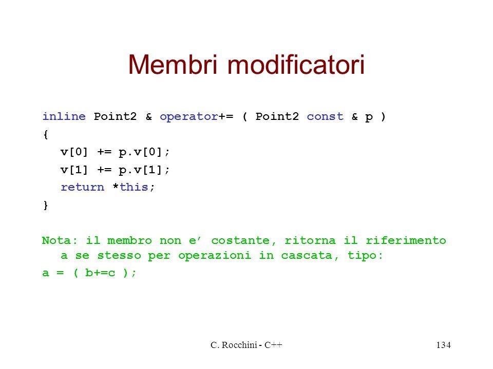 Membri modificatori inline Point2 & operator+= ( Point2 const & p ) {