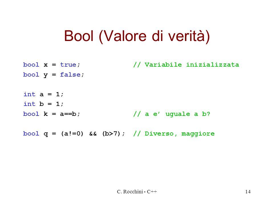 Bool (Valore di verità)