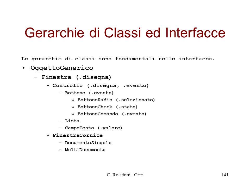 Gerarchie di Classi ed Interfacce