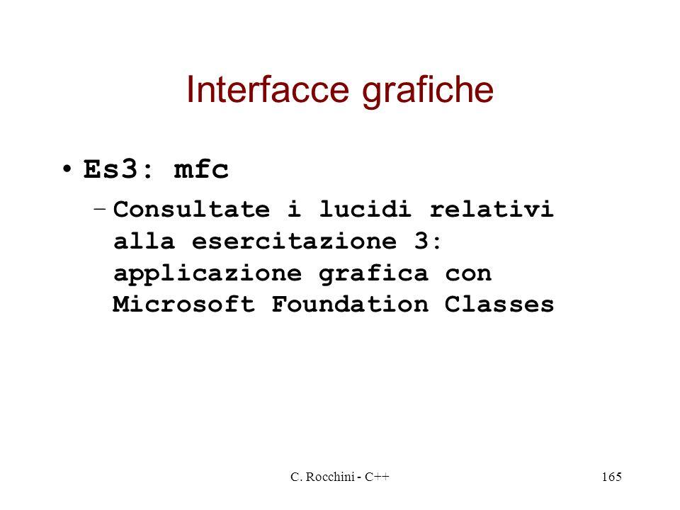 Interfacce grafiche Es3: mfc