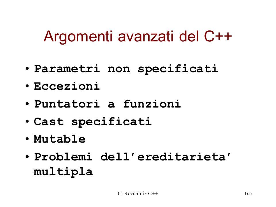 Argomenti avanzati del C++