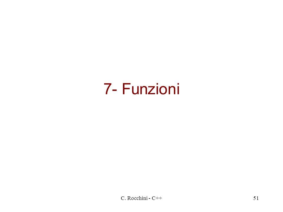 7- Funzioni C. Rocchini - C++