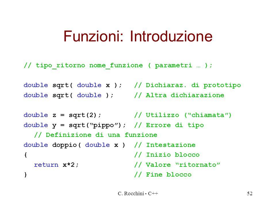 Funzioni: Introduzione
